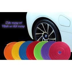 Chỉ viền la zăng xe hơi nhiều màu sắc