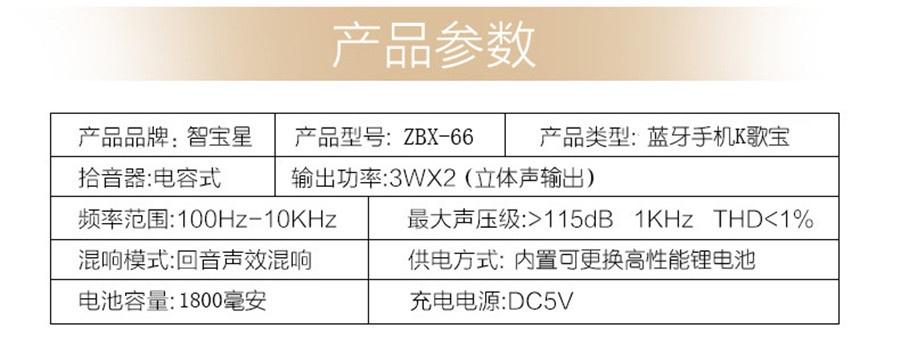 Micro Karaoke Buetooth Cao Cấp ZBX-66 3