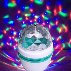 Đèn quả cầu xoay pha lê 7 màu LED