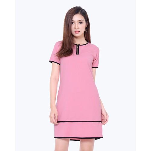 Đầm suông viền có túi - Có 3 màu lựa chọn