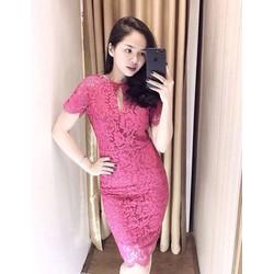 Đầm body ren khoét