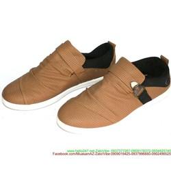 Giày xỏ nam vân caro nhỏ phong cách sành điệu GX23