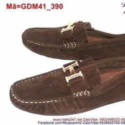 Giày mọi da nam công sở phối chữ H trẻ trung GDM41