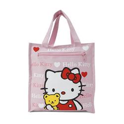 Túi đựng cơm + nước 4 ngăn - kitty hồng lợt
