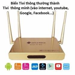 Thiết bị Smart tivi 4 anten vàng gold