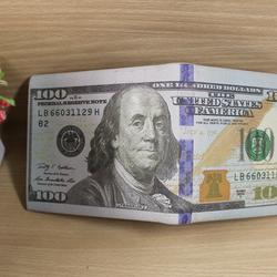 Ví nam hình tiền  100 USD độc đáo hàng loại 1