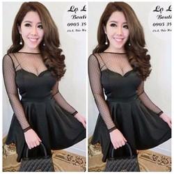 Đầm xoè cúp ngực áo lưới bi - A27820