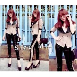 Set áo vest quần dài da Suri