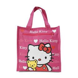 Túi đựng cơm + nước 4 ngăn - kitty hồng đậm