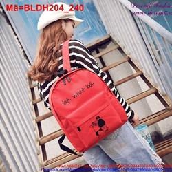 Ba lô đi học đi chơi vải bố look what look đáng iu BLDH204