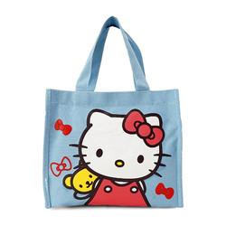 Túi đựng cơm + nước 3 ngăn - kitty xanh dương