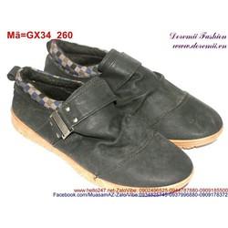 Giày lười nam phối viền ca rô trẻ trung cá tính GX34