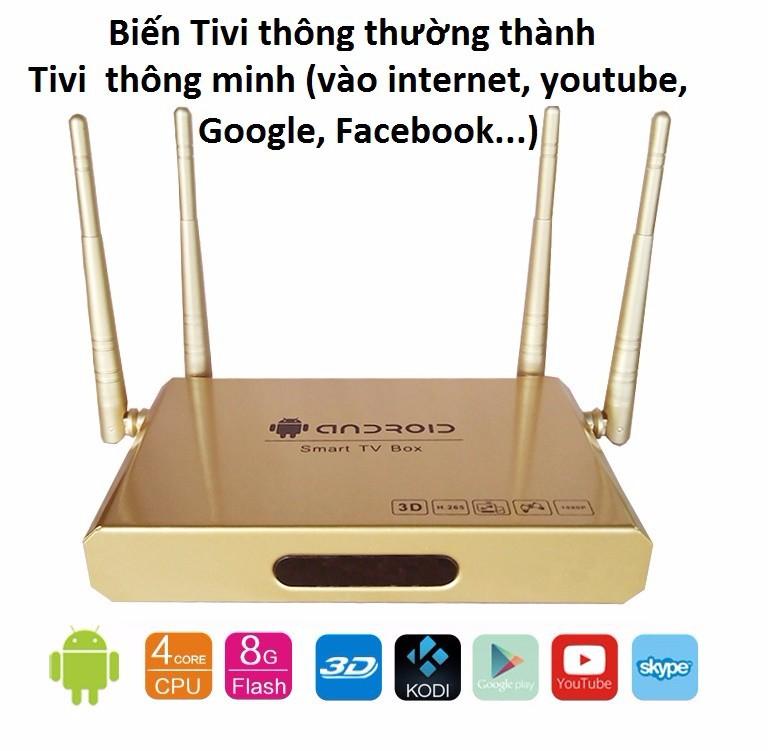 Android Tivi Box 4 anten + tặng chuột không dây và kho ứng dụng 2