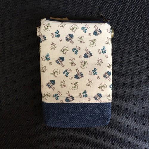 PB36 - Lila Túi Đựng Điện Thoại Handmade Họa Tiết Vớ nón xanh