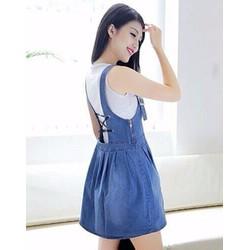 Váy Yếm Jean Nữ Dây Thắt Lưng