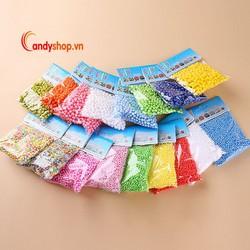 Combo 5 bịch hạt xốp màu - Hạt mút xốp màu bỏ hộp quà candyshop88.vn