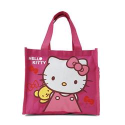 Túi đựng cơm + nước 3 ngăn - kitty hồng đậm