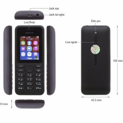 Điện thoại Nokia 130 Đen