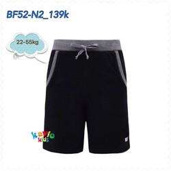 Quần short nam có dây-black 25-50kg