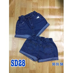 Quần short jean lưng thun