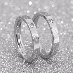 Nhẫn cặp inox Hàn Quốc họa tiết trái tim chữ Love - N055