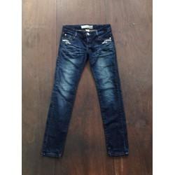 Quần jeans dài ống suông wash thời trang