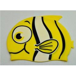 Nón bơi cho bé hình cá màu vàng