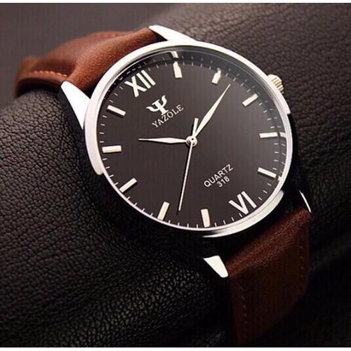 Đồng hồ nam dây da Yazole YR332 - Nâu mặt đen - 4065729 , 4055436 , 15_4055436 , 55000 , Dong-ho-nam-day-da-Yazole-YR332-Nau-mat-den-15_4055436 , sendo.vn , Đồng hồ nam dây da Yazole YR332 - Nâu mặt đen