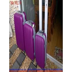 Vali kéo du lịch nhựa 4 bánh xe màu trơn nhựa cao cấp VL214