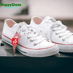 Giày CV trắng thấp cổ nan