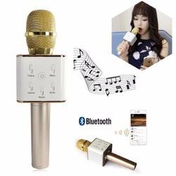 Mic karaoke bluetooth 3 in 1 có loa Q7 chính hãng giá rẻ