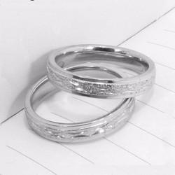 Nhẫn cặp đôi inox phun cát đẹp giá rẻ mẫu N010