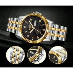 đồng hồ bosck dây kim loại viền vàng BOS02