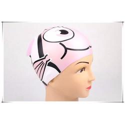 Nón bơi cho bé hình cá màu hồng