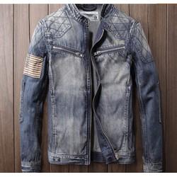 Áo khoác jeans nam cổ bẻ  cao cấp BAKN 34