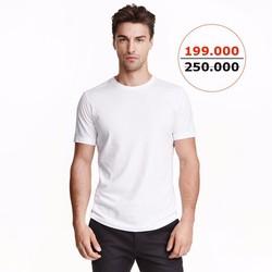 Áo thun trơn 100 Cotton màu trắng