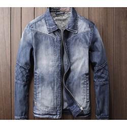 Áo khoác jeans nam cổ bẻ  cao cấp BAKN 33
