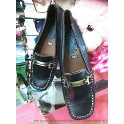 Giày mọi da nữ khoác sắt ngang tinh tế nổi bật GM108