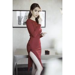 Đầm Body Tay Dài Thiết Kế Lưng V Đẹp Như Ngọc Trinh  D359
