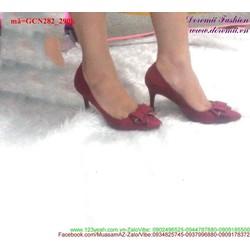 Giày cao gót mũi nhọn đính nơ tôn dáng GCN282