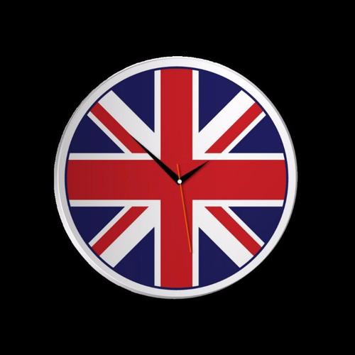 Đồng hồ để bàn tròn - Cờ Anh