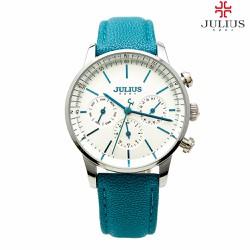 Đồng hồ cao cấp Nữ JULIUS JU1066 chạy 6 kim Xanh Thiên Thanh
