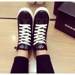 giày cổ cao dây kéo