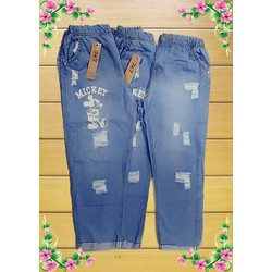 Quần Baggy Jeans Mickey