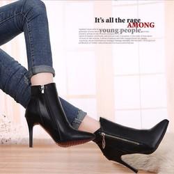 B016D - Giày bốt nữ cá tính, sang trọng