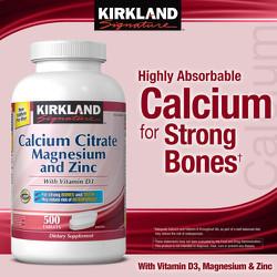 Bổ xương Kirkland Signature™ Calcium Citrate 500 mg, 500 viên
