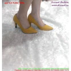 Giày cao gót mũi nhọn đơn giản tôn dáng GCN284