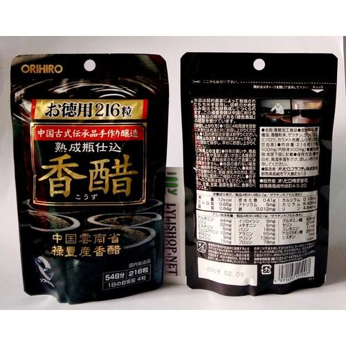 Dấm đen giảm cân Orihiro bịch 216 viên từ Nhật Bản - 4085408 , 4267880 , 15_4267880 , 180000 , Dam-den-giam-can-Orihiro-bich-216-vien-tu-Nhat-Ban-15_4267880 , sendo.vn , Dấm đen giảm cân Orihiro bịch 216 viên từ Nhật Bản