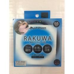 Vòng đeo cổ điều hòa huyết áp Phiten Rakuwa Nhật Bản vỏ đen
