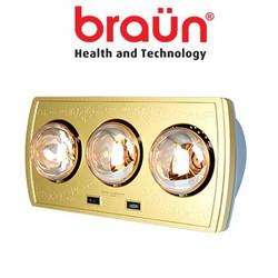 Đèn sưởi nhà tắm Braun 3 bóng vàng BU3